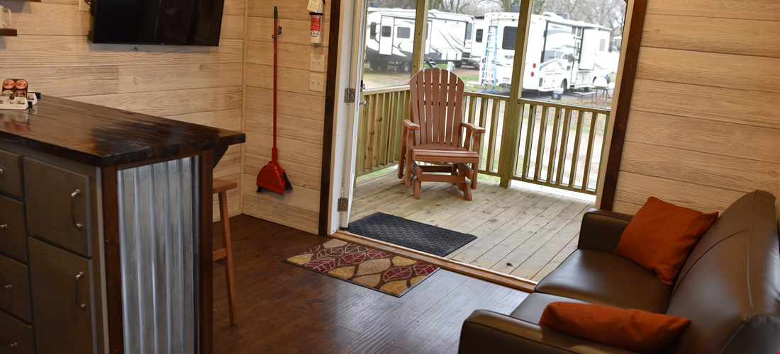 Living Room of Cabin 200
