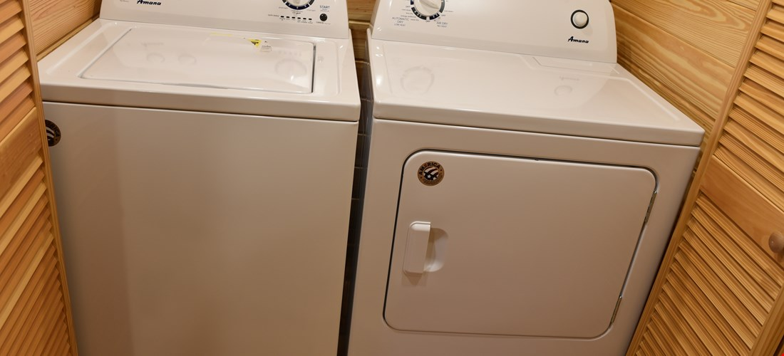 Washer & Dryer in Deluxe Cabin 300