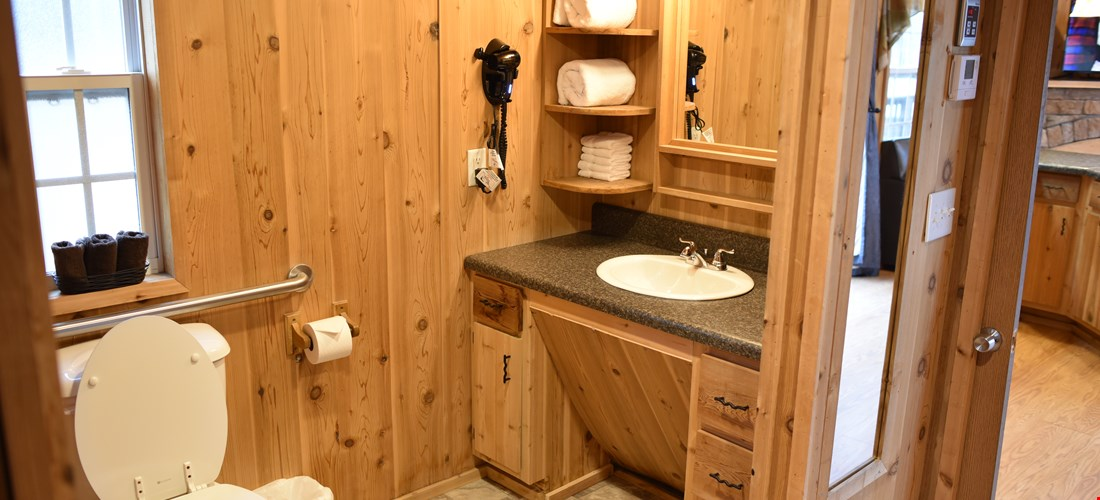 Bathroom in the loft deluxe cabin